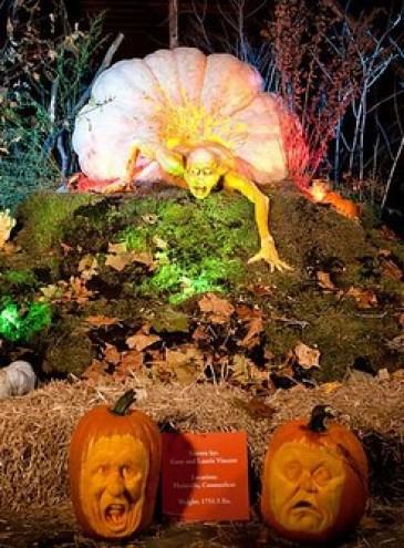 Хеллоуин-арт: что получится из тыквы, если очень постараться