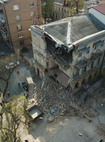 В центре Одессы рухнул дом – памятник архитектуры