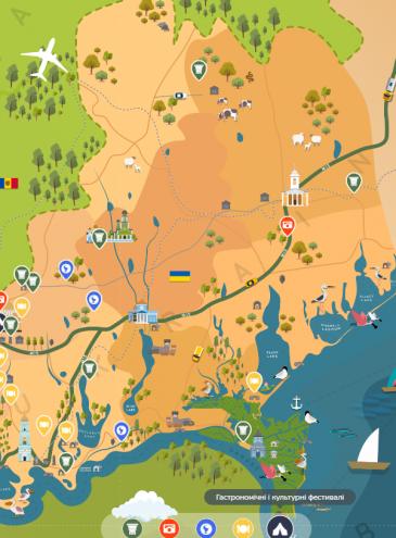 Для украинской Бессарабии создали подробную туристическую карту