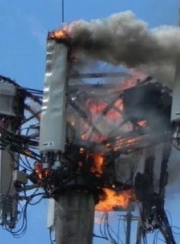 Борцы с 5G сожгли во Франции вышку, оставив 1,5 миллиона человек без коммуникаций