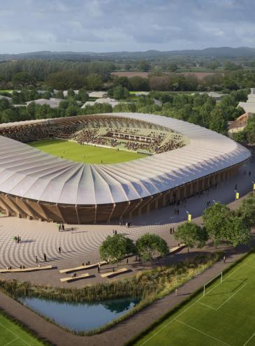 В Британии из дерева построят стадион, а в Германии – небоскреб