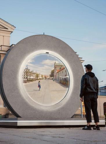 Столицу Литвы и город в Польше соединили «порталом»