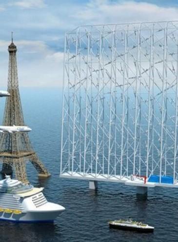 В Норвегии придумали огромные морские ветроуловителели – они лучше обычных турбин