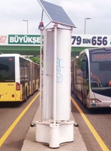 У Стамбулі вітряки працюють від потоків повітря, створюваних рухом транспорту (відео)