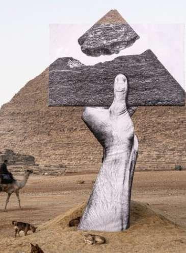 У єгипетських пірамід в долині Гізи вперше провели виставку сучасного мистецтва
